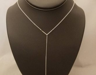 14k Gold Lariat Necklace