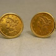 14k-Yellow-Gold-$5-1/4oz-22k-Gold-Coin-Cuff-Links