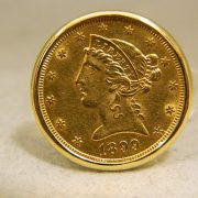 14k-Yellow-Gold-$5-1/4oz-22k-Gold-Coin-Cuff-Links-2