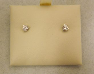 14k White Gold 0.26CT TW Diamond Martini Stud Earrings