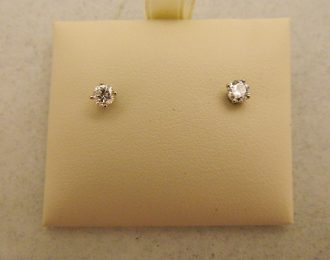 14k White Gold 0.40CT TW Diamond Stud Earrings
