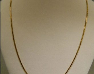 14k Yellow Gold 16″ 1.00mm Box Link Necklace
