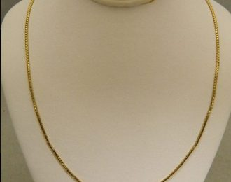 14k Yellow Gold 16″ 1.15mm Box Link Necklace