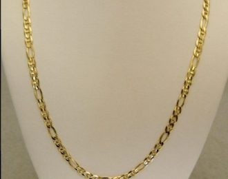 14k Yellow Gold 18″ 4.00mm Figaro Link Necklace