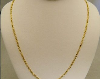 14k Yellow Gold 18″ 1.85mm Chain Link Necklace