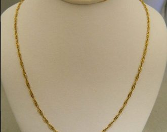 14k Yellow Gold 18″ 1.77mm Fancy Link Necklace