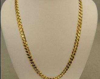 14k Yellow Gold 24″ 5.00mm Cuban Link Necklace