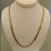 14k-Yellow-Gold-22″-4.45mm-Marine-Link-Necklace