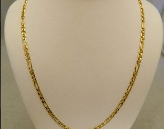 14k Yellow Gold 24″ 3.15mm Figaro Link Necklace