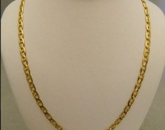 14k Yellow Gold 22″ 3.85mm Marine Link Necklace