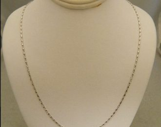 14k White Gold 18″ 1.12mm Fancy Link Necklace