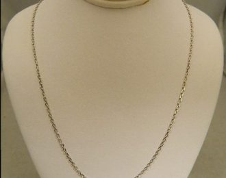 14k White Gold 16″ 1.45mm Chain Link Necklace