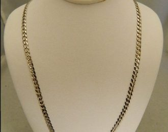 14k White Gold 24″ 3.93mm Curb Link Necklace