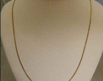 Sterling Silver 24″ 0.75mm Box Link Necklace