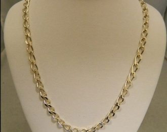 Sterling Silver 18″ 4.40mm Cable Link Necklace