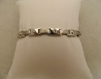 14k White Gold 7″ 5.5mm Diamond 0.77CT TW Bracelet