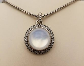 David Yurman Moon Quartz Ceris Enhancer Pendant
