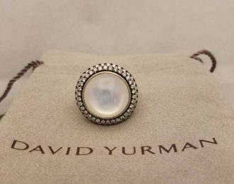 David Yurman Cerise Sterling Silver Moon Quartz Ring