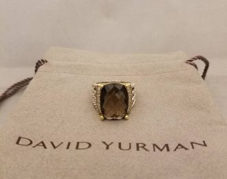 David Yurman Wheaton Gold Silver and Diamond Ring