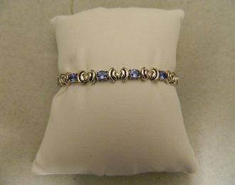 18k White Gold Topaz & Diamond 4.6CT TW 7″ 6.50mm Bracelet