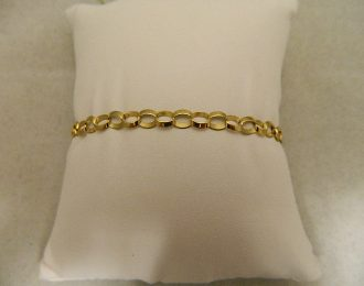10k Yellow Gold Open Link 7″ 4.90mm Bracelet