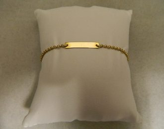 14k Yellow Gold Baby ID 5″ 4.00mm Bracelet