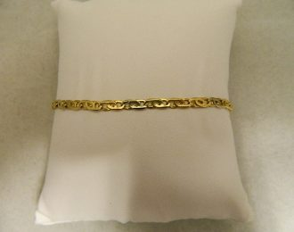 14k Yellow Gold Cat Eye Link 9″ 3.60mm Bracelet