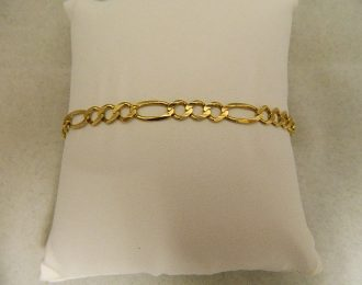 14k Yellow Gold Figaro Link 8″ 5.55mm Bracelet