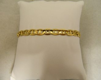 14k Yellow Gold Marine Link 8″ 6.00mm Bracelet
