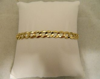 14k Yellow Gold Curb Link 8.5″ 7.25mm Bracelet