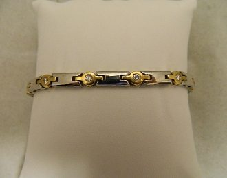 14k Two-Toned Diamond 1.30CT TW 8.5″ 5.60mm Bracelet