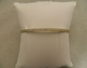 14k Yellow Gold Custom Bangle Diamond .50CT TW 2.80mm Bracelet