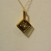 "14k-Yellow-Gold-.24CT-Diamond-Pendant-w/22""-Cable-Link-Chain-2"