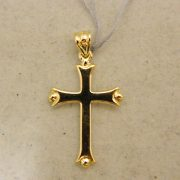 "14k-Yellow-&-White-Reversible-Gold-1""-Cross"