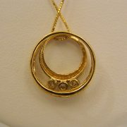 "14k-Yellow-Gold-0.20CT-TW-Circular-Diamond-Pendant-w/18""-Box-Link-Chain-2"