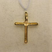 "14k-3/4""-Yellow-Gold-0.05CT-Diamond-Slider-Cross-Pendant-1"