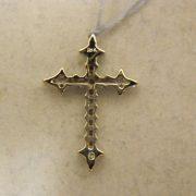 "18k-3/4""-White-Gold-0.50CT-TW-Diamond-Cross-Pendant-1"