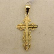 "14k-1-1/2""-Two-Toned-Crucifix-Pendant-1"